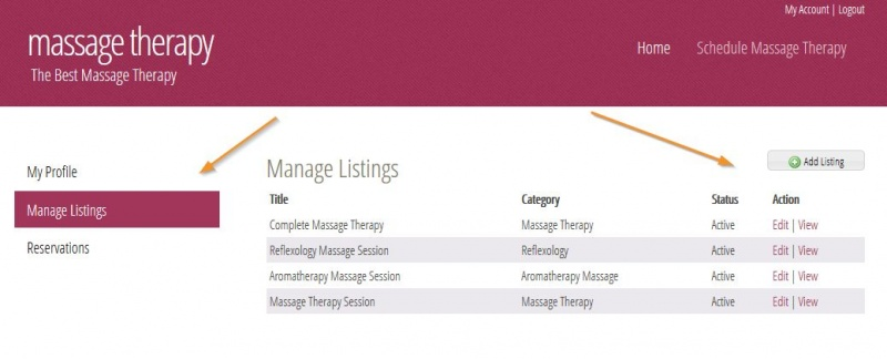 Manage Listings